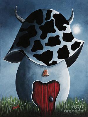Mushroom Painting - Country Escape By Shawna Erback by Shawna Erback