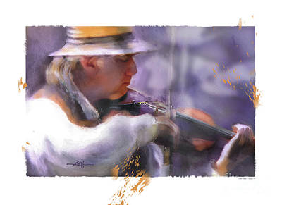 Contry Painting - Country Fiddler by Bob Salo