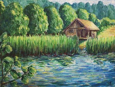 Impressionist Landscape With Country House Print by Erki Schotter