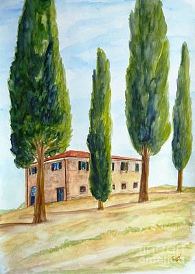 July Painting - Country House In Tuscany by Christine Huwer