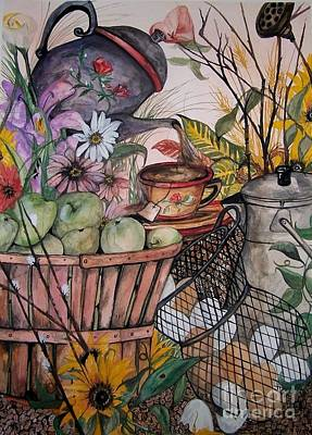 Painting - Country Kitchen by Laneea Tolley