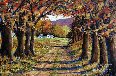 Canadiens Painting - Country Livin  by Richard T Pranke