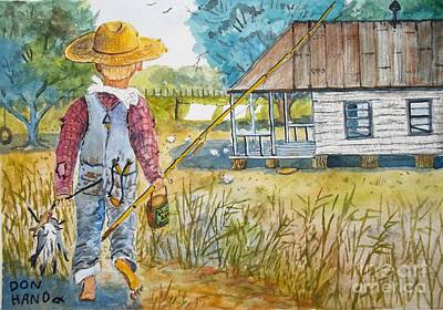 Catfish Mixed Media - Country Living by Don Hand