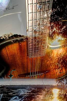 Country Music Digital Guitar Art By Steven Langston Print by Steven Lebron Langston