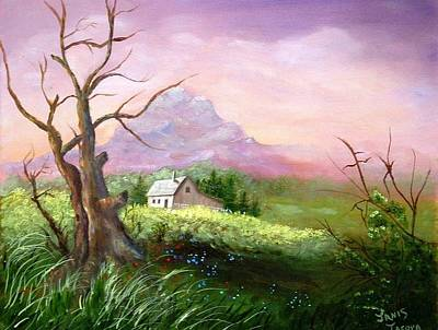 Old Barn Painting - Country Peace by Janis  Tafoya