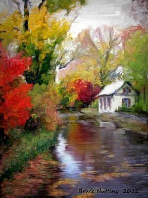 House Painting - Country Rain by Bruce Nutting