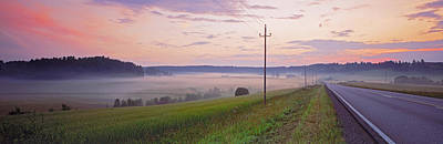 Telephone Poles Photograph - Country Road And Telephone Lines by Panoramic Images