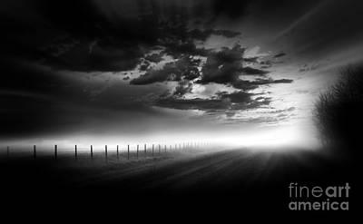 Alberta Prairie Landscape Photograph - Country Road by Dan Jurak