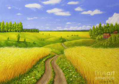 Traditional Painting - Country Road by Veikko Suikkanen