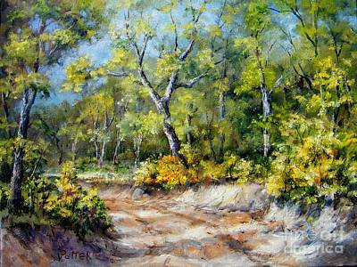 Arkansas Painting - Country Road by Virginia Potter