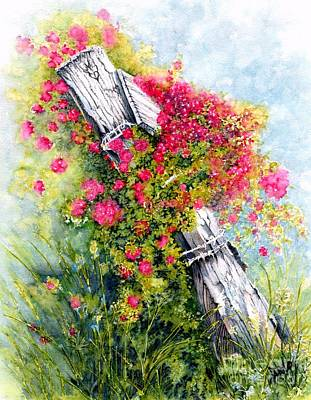 Wild Flowers Mixed Media - Country Rose by Janine Riley