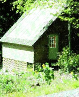 Country Shed Print by Florene Welebny
