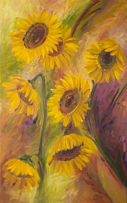 Painting - Sunflowers by John and Lisa Strazza