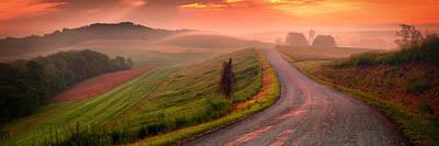 Pa State Parks Photograph - Country Sunrise Bradys Ridge Rd by Emmanuel Panagiotakis