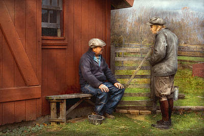 Window Bench Photograph - Country - The Farmhands by Mike Savad