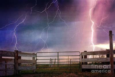 Horizontal Photograph - Country Thunder by Cindy Singleton