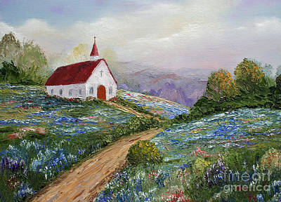 Wet On Wet Painting - Countryside Church  by Jimmie Bartlett