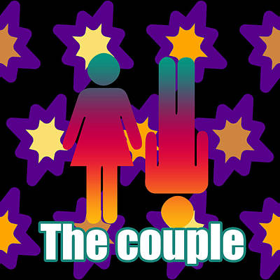 Couple Mixed Media - Couple In Popart by Toppart Sweden