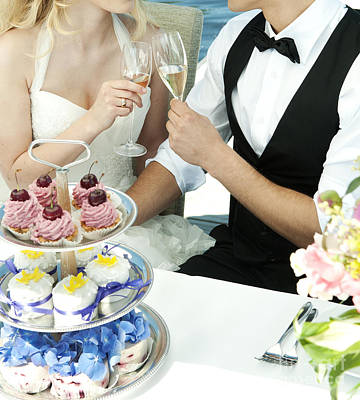 Couple Toasting At Wedding Print by Jacek Malipan