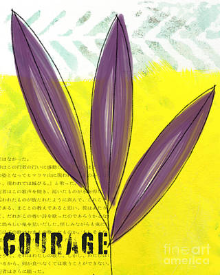 Bamboo Painting - Courage by Linda Woods