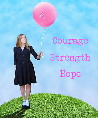 Charity Photograph - Courage.  Strength.  Hope. by Juli Scalzi