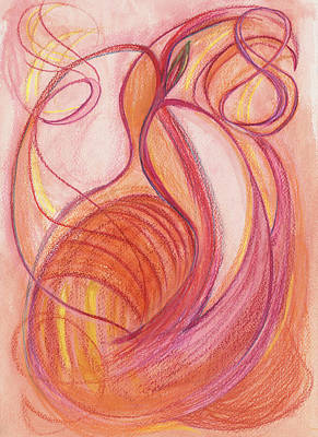 Feelings Drawing - Courage's Nourishment by Kelly K H B