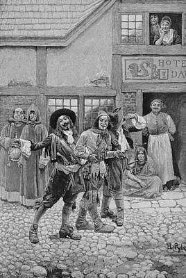 Coureurs De Bois, Engraved By G.e. Johnson, Illustration From Canadian Voyageurs On The Saguenay Print by Howard Pyle