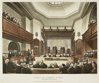 Microcosm Photograph - Court Of Common Pleas by British Library