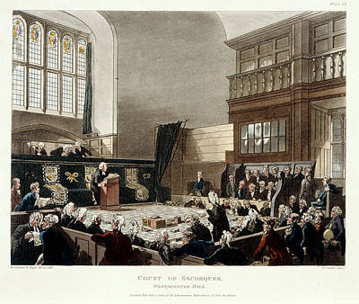 Microcosm Photograph - Court Of Exchequer by British Library