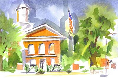 Courthouse Abstractions II Print by Kip DeVore