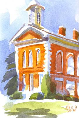 Cupola Painting - Courthouse In Early Morning Sunshine II by Kip DeVore