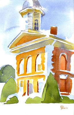 Cupola Painting - Courthouse In Early Morning Sunshine by Kip DeVore