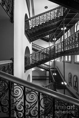 Courthouse Photograph - Courthouse Staircases by Inge Johnsson