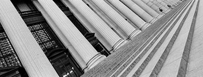 Distortion Photograph - Courthouse Steps, Nyc, New York City by Panoramic Images