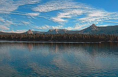 High Sierra Digital Art - Courtright Reservoir Version II by Visual Artist  Frank Bonilla