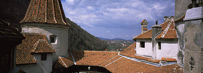 Rooftop Photograph - Courtyard Of A Castle, Bran Castle by Panoramic Images