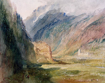 Mountain Drawing - Couvent Du Bonhomme Chamonix by Joseph Mallord William Turner