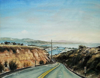Cove Road To The Marina Original by Mike Worthen