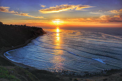 Cove Sunset Print by Victoria Mann