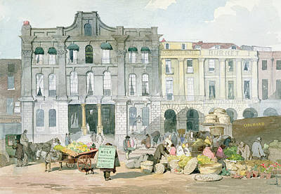 Horse And Cart Photograph - Covent Garden Market Wc On Paper by English School