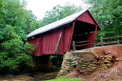 Campbells Covered Bridge Photograph - Covered Bridge -1909 by Sandra Clark