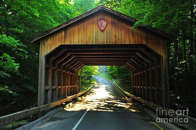 Covered Bridge At Sleeping Bear Dunes National Lakeshore Print by Terri Gostola