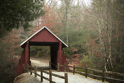 Campbells Covered Bridge Photograph - Covered Bridge by Cindy Rubin