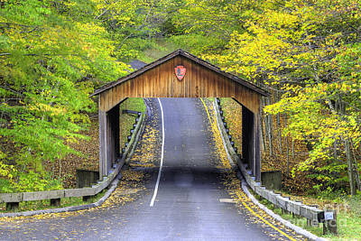 Falls Photograph - Covered Bridge In Sleeping Bear Dunes by Twenty Two North Photography