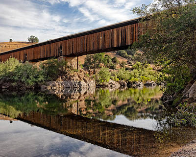 Lodes Photograph - Covered Bridge Knights Ferry Ca by Troy Montemayor