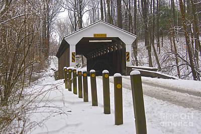 Linton Stevens Covered Bridge Print by Lori Amway