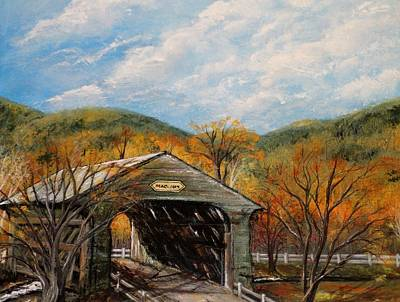 Covered Bridge Painting - Covered Bridge by Marcia Crispino