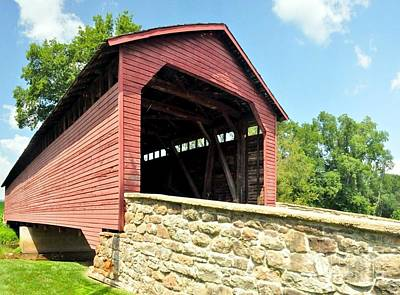 Frederick Photograph - Covered Bridge by Mike Baltzgar