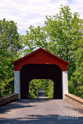 Bucks County Photograph - Covered Bridge by Olivier Le Queinec