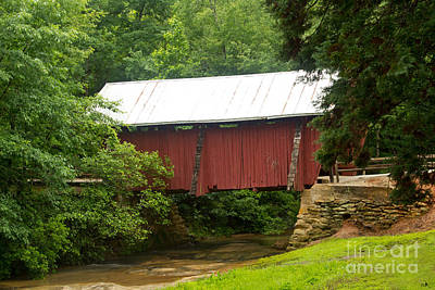Campbells Covered Bridge Photograph - Covrered Bridge In South Carolina by Sandra Clark